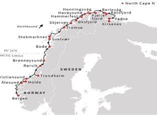 Nordlys, Norway Cruise ex Bergen to Kirkenes - EU Norwegian